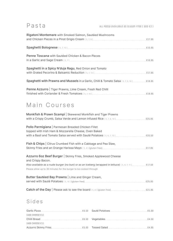 pasta and main